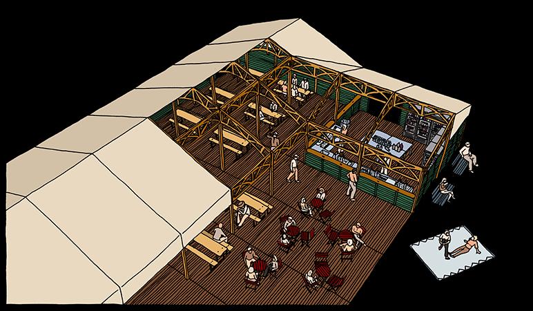 Evenementen tent - Dinner tent
