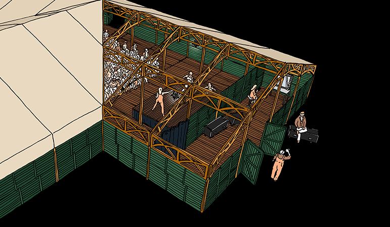 Evenementen tent - Theater tent
