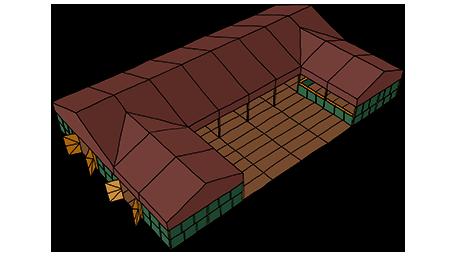 Tent Creator - U shape example